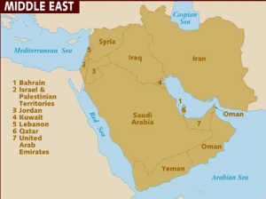The Middle East (source, www.lonelyplanet.com).