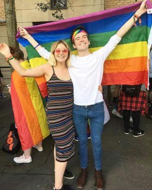 Features Editor, Lewis Sloan at Belfast Pride. Photo Credit: Lewis Sloan