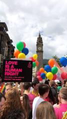 Belfast shows their pride this August. Photo Credit: Lewis Sloan.